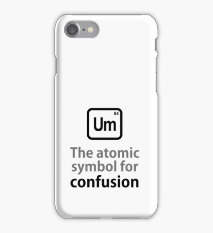 Atomic Symbol for Confusion iPhone Case/Skin