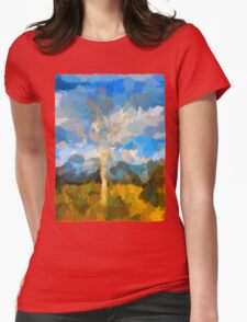 Bare Tree in the Evening Light Womens Fitted T-Shirt