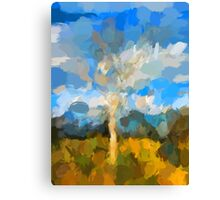 Bare Tree in the Evening Light Canvas Print