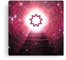 Bahai Faith (Nine Pointed Star) (Square) Canvas Print