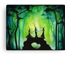 Emerald Forest Fire Canvas Print