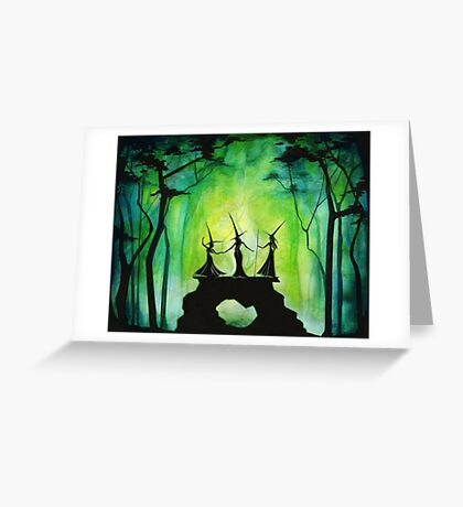 Emerald Forest Fire Greeting Card