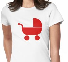 Red baby buggy Womens Fitted T-Shirt