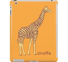 A stripy giraffe? No, it's a Ziraffe iPad Case/Skin