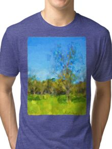 Windy Trees in a Row Tri-blend T-Shirt