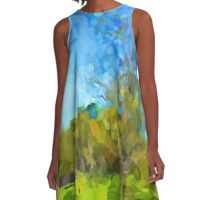 Windy Trees in a Row A-Line Dress