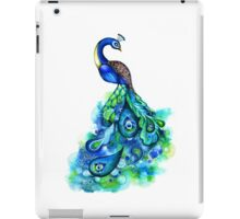 Peacock Watercolor iPad Case/Skin