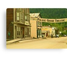 Queen Street in Dawson City Canvas Print