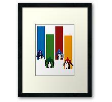 Heroes!! Framed Print