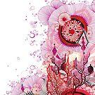 Coral Sunburst by Annya Kai