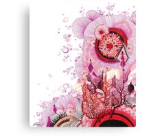 Coral Sunburst Canvas Print