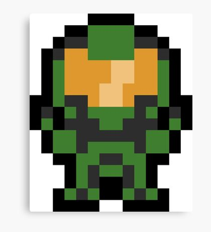 Pixel Master Chief Canvas Print