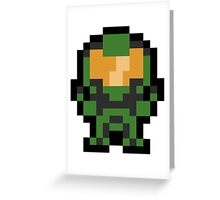 Pixel Master Chief Greeting Card