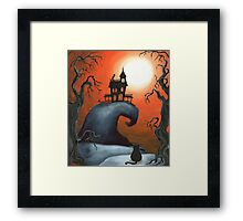 Haunted House on Old Witch Hill Framed Print