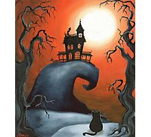 Haunted House on Old Witch Hill Photographic Print