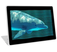 Dolphin in Waves Laptop Skin