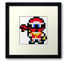 Pixel Captain Jose Framed Print
