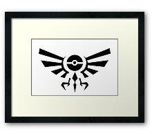 Pokemon Legend of Zelda Emblem Framed Print