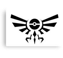 Pokemon Legend of Zelda Emblem Canvas Print