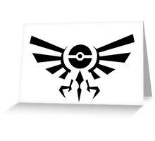 Pokemon Legend of Zelda Emblem Greeting Card