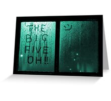 The Big Five Oh !! (green) Greeting Card