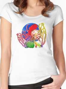 Vibrant Ocean Women's Fitted Scoop T-Shirt