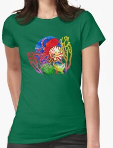 Vibrant Ocean Womens Fitted T-Shirt