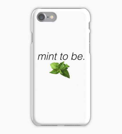 mint to be phonecase, stickers, etc iPhone Case/Skin
