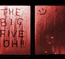 The Big Five Oh !! (red) by grant-ham-cards