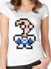 Pixel Earthworm Jim Women's Fitted Scoop T-Shirt