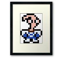 Pixel Earthworm Jim Framed Print