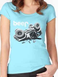 """Funny """"beer"""" 4x4  Women's Fitted Scoop T-Shirt"""