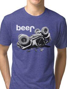 "Funny ""beer"" 4x4  Tri-blend T-Shirt"