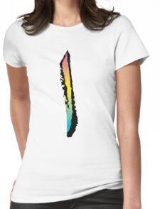 Brush Stroke-Arabic Letter-Alif Womens Fitted T-Shirt