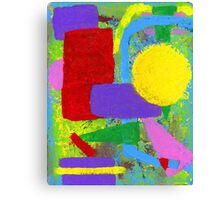 Old School Abstract Art Canvas Print