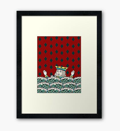 Red King Overboard Framed Print