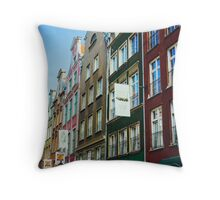 Buildings In Gdansk Throw Pillow