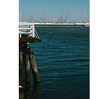 Pier and Boats Photographic Print