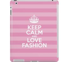 Keep Calm and Love Fashion - Pink Stripes iPad Case/Skin
