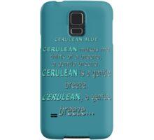 Cerulean Blue Samsung Galaxy Case/Skin