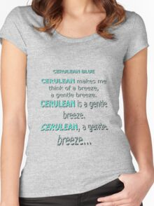 Cerulean Blue Women's Fitted Scoop T-Shirt