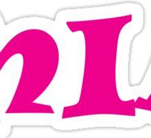 Mia (Pink) Sticker
