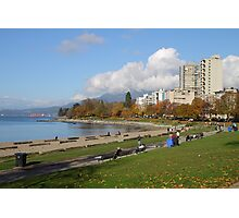 English Beach, Vancouver City, Canada  Photographic Print