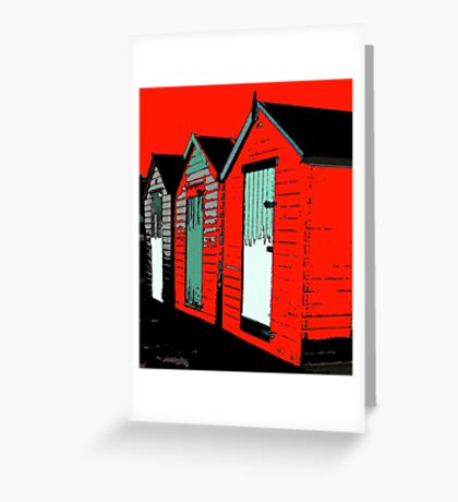 redhothut life's a beach Greeting Card