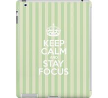 Keep Calm and Stay Focus - Green Stripes iPad Case/Skin