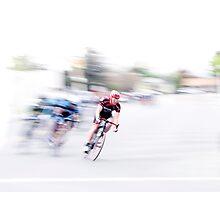 Speeding into the Curve Photographic Print