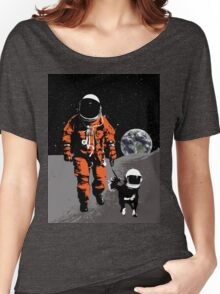 Astronaut walking his dog on the moon Women's Relaxed Fit T-Shirt