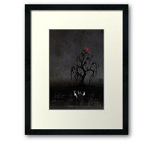 Fox Beneath the Red Moon Framed Print