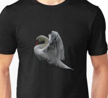 Ethereal swan stretches wings Unisex T-Shirt