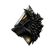 Viking Wolf Head Photographic Print